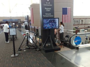 Passive millimeter wave scanner in a public area of Denver International Airport